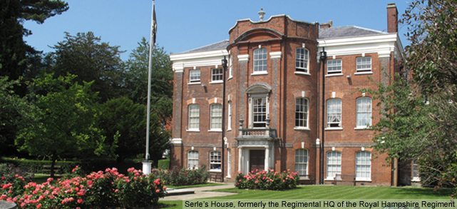 Serle's House, formerly the Regimental Headquarters of the Royal Hampshire Regiment